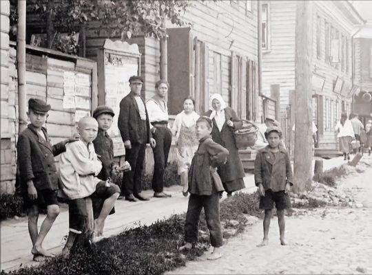 Исторические кадры Архангельска